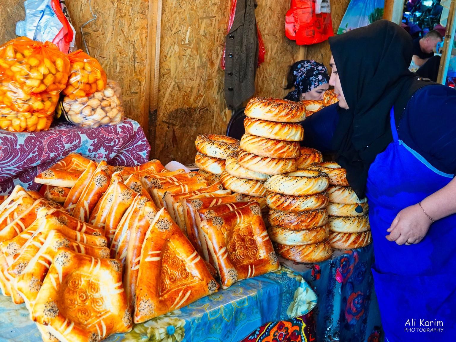 Silk Road 15: Osh, Kyrgyzstan Typical Uzbek style Lepyoshka bread, baked in a tandoor