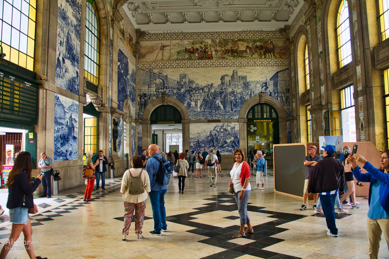 Porto Original train station of Porto, still in use; with beautiful tiled images