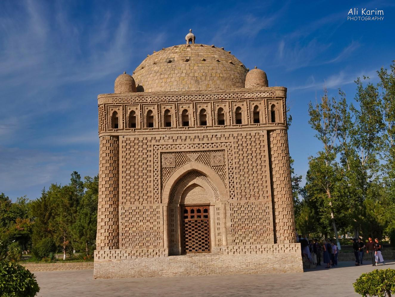 Bukhara, Oct 2019, Mausoleum of Ismoil Somoni; the brickwork was quite unique; and the style was borrowed for the design of the Ismaili Center in Dushanbe