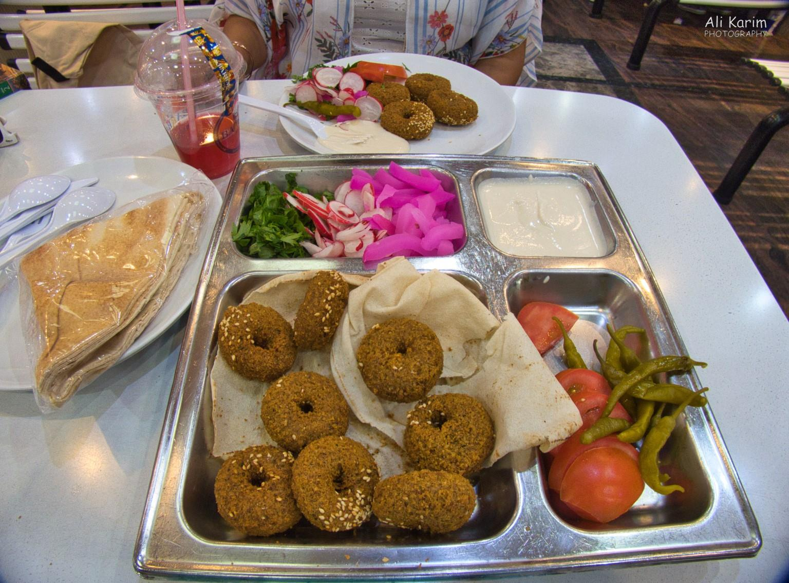 Beirut Falafel meals at Babar restaurant