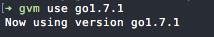 Set GVM Go Version to v1.7.1