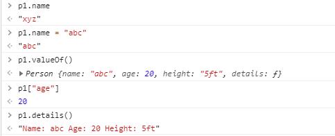Methods of class in JavaScript