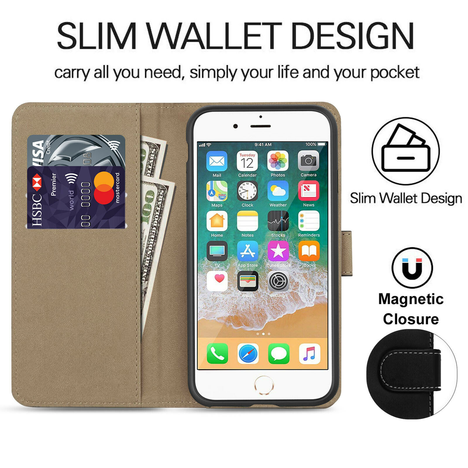 Indexbild 14 - For Apple iPhone 11 Pro Max Case Cover Flip Magnetic New Phone Full Body