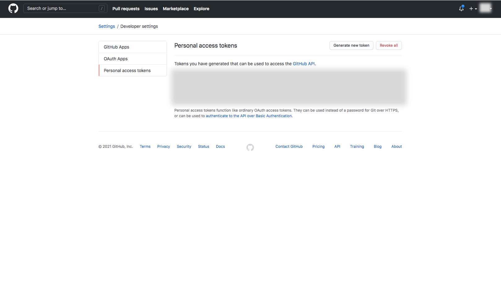 Creating a GitHub Personal Access Token