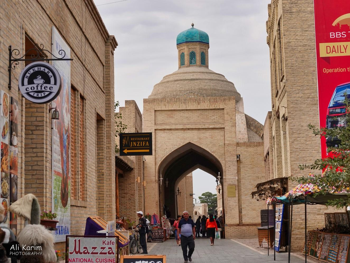 Bukhara, Oct 2019, An entrance into the main square of the old city