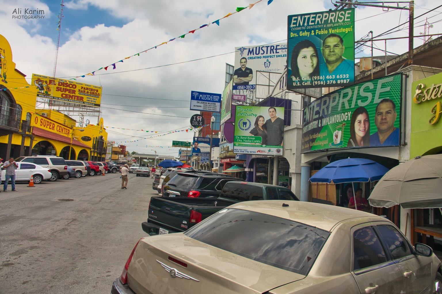 Dental Refugee, Nuevo Progresso, Mexico Main drag in Progresso Nuevo