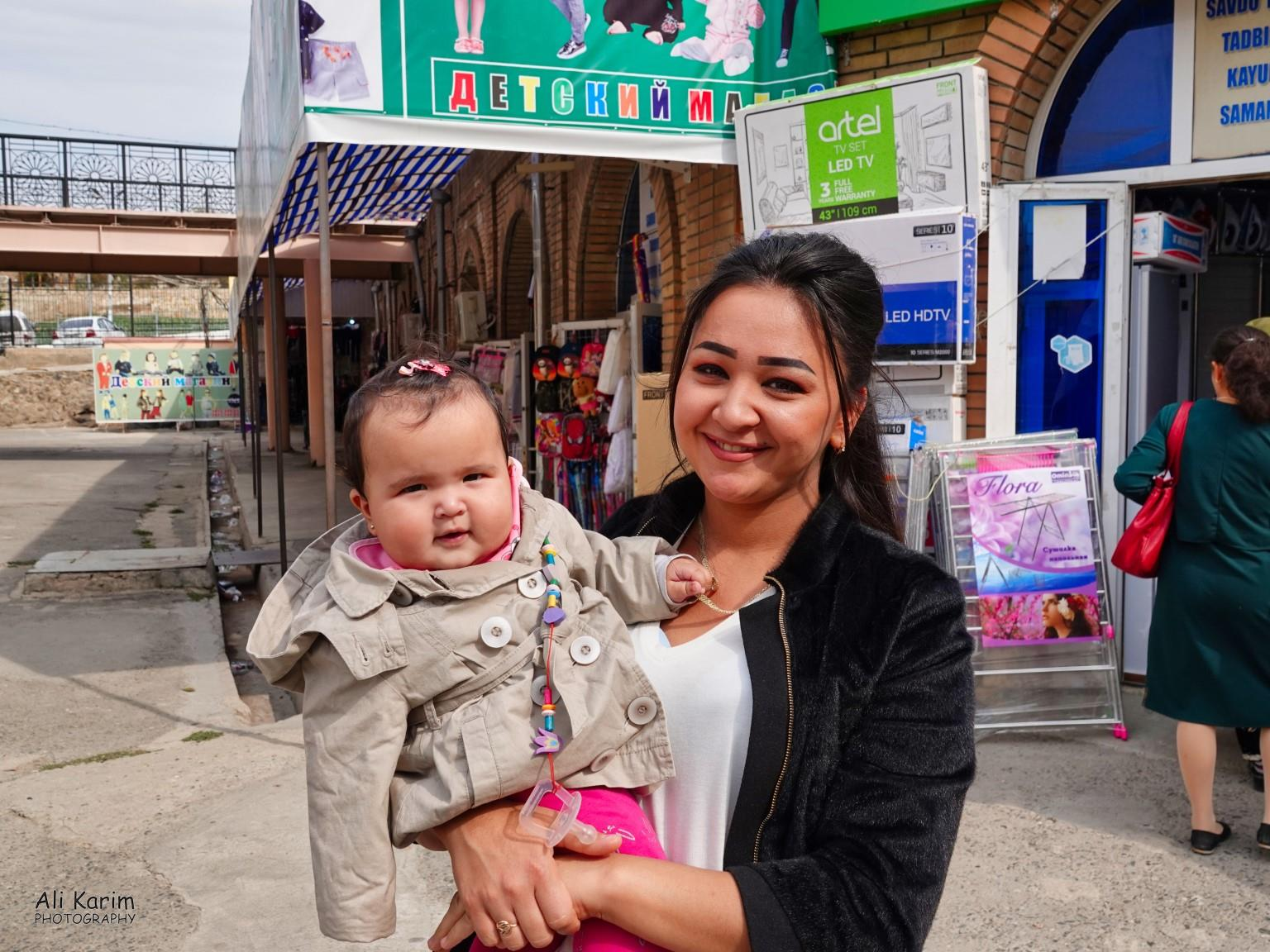 More Samarkand, Locals were all very friendly. Wonder what she was feeding her baby; look at the size of those cheeks :)