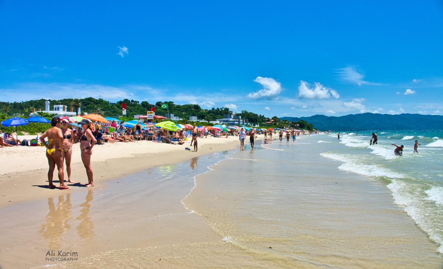 Florianópolis, Brazil Beautiful Praia Jurerê Internacional beach on the north of the island, facing the mainland, was the best, warmest beach