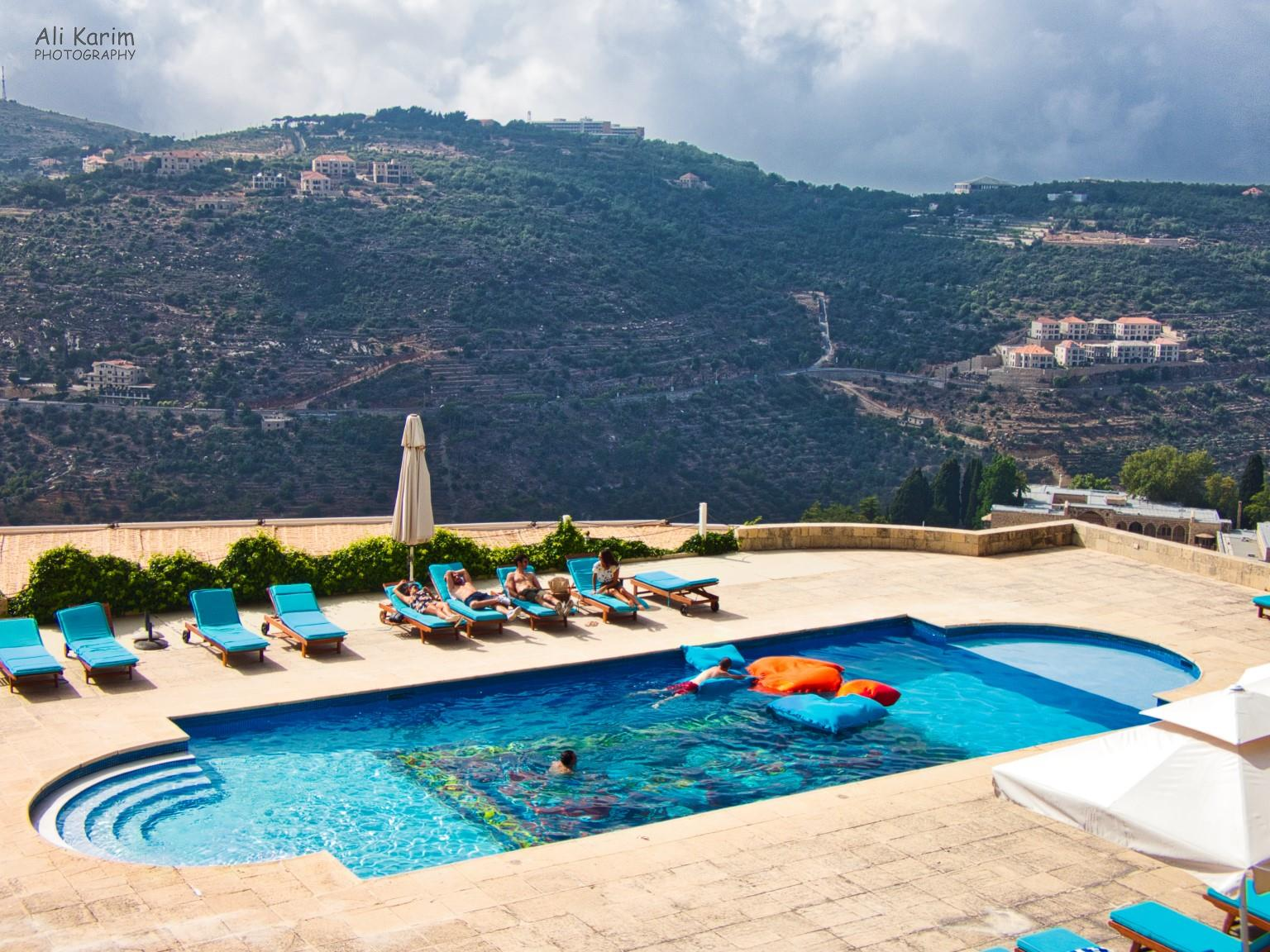 Druze and the Chouf Mountains Pool are overlooking the Chouf mountains