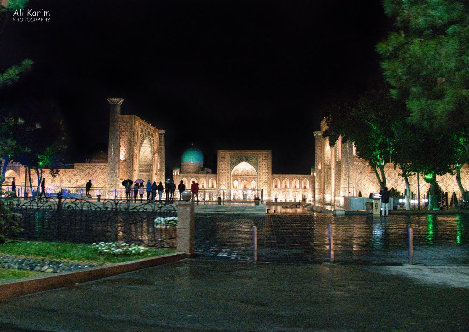 More Samarkand, The Magnificent Registan by night