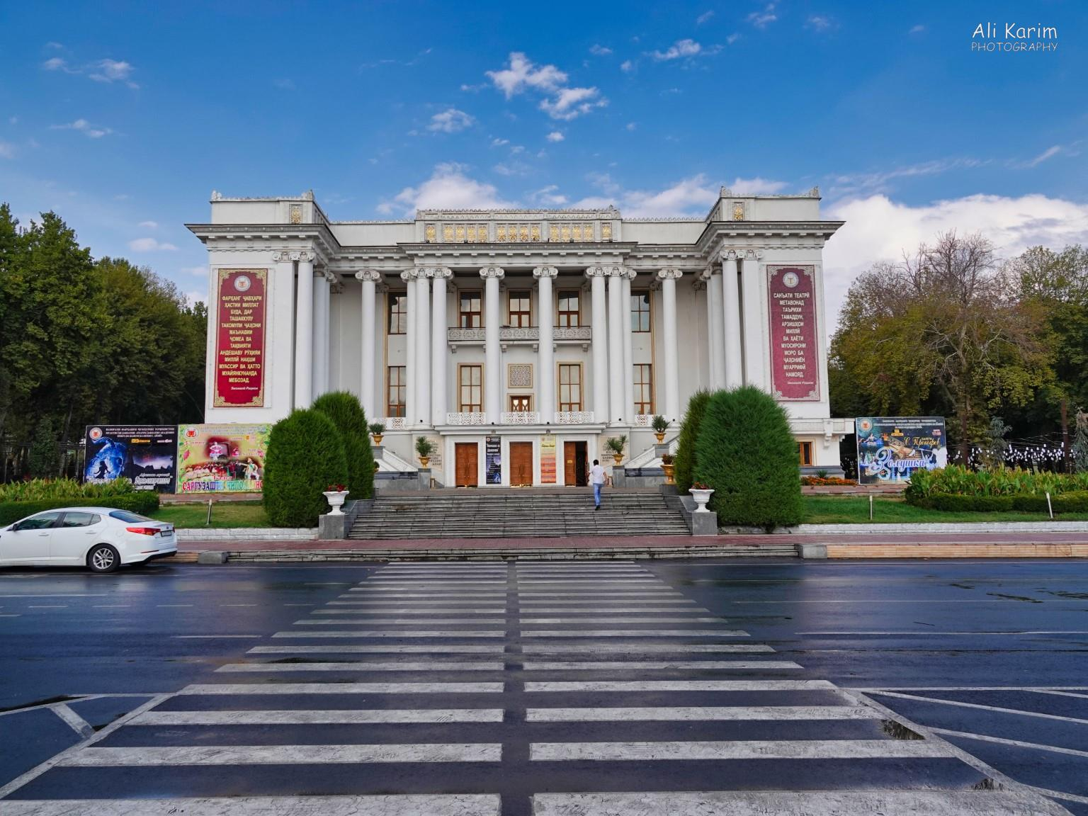 More Dushanbe, Tajikistan The majestic Sadriddin Ayni Opera and Ballet center