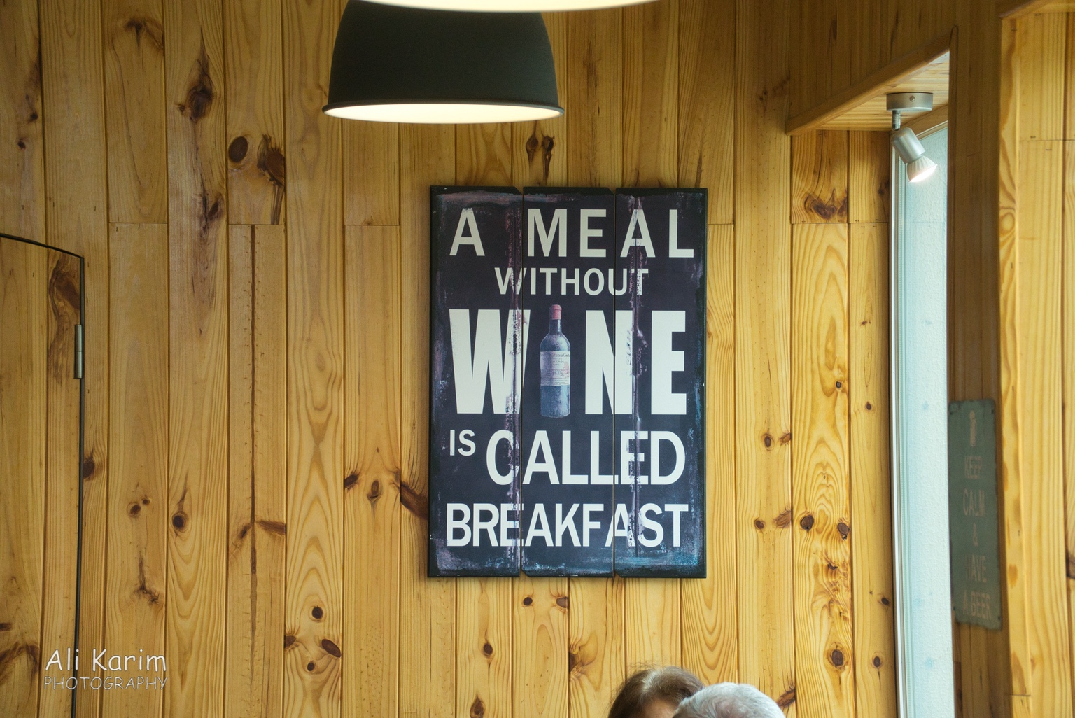 Sign in the Abakua restaurant, our first stop. I am beginning to like Portugal already :)