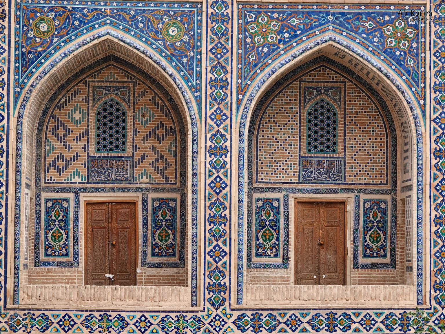 More Samarkand, Beautiful design and décor inside one of the madrassah's