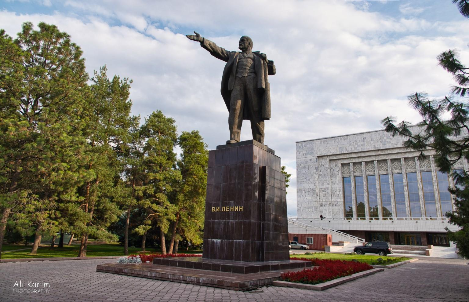 Silk Road 14 Bishkek Statue of Lenin was relegated to the back of the Museum after independence