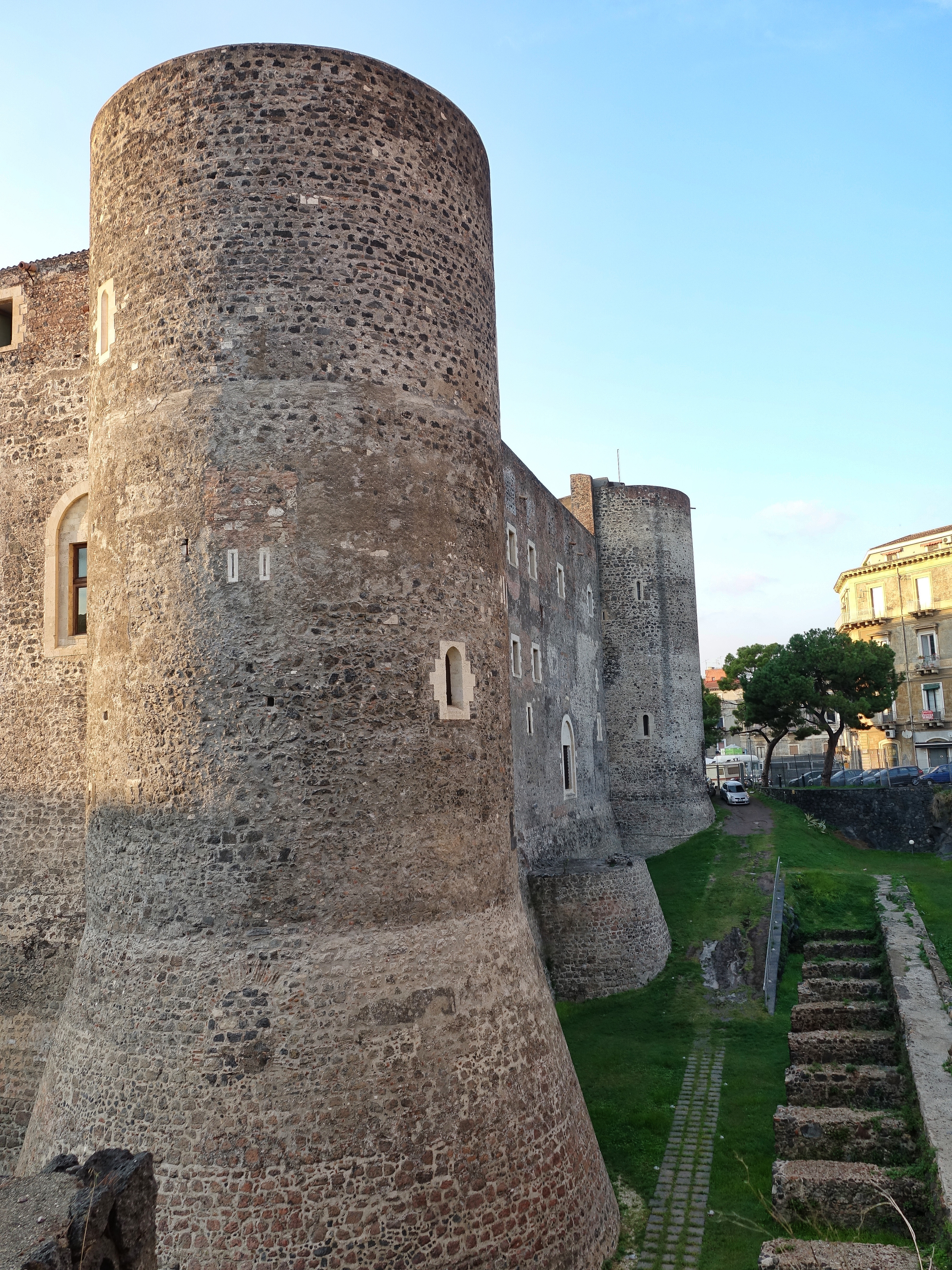 Local fort in Catania; well preserved