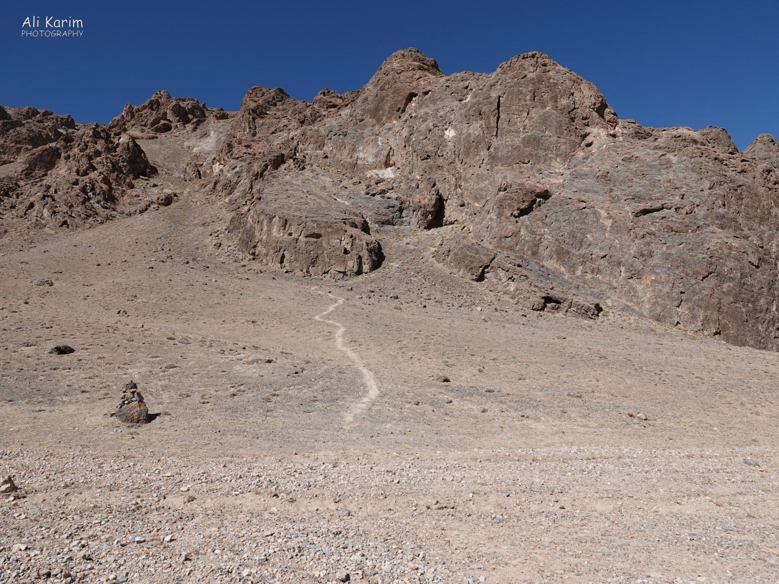 More Murghab & Alichur, Tajikistan, Short hike up to the Shakhty cave to check out the petroglyphs