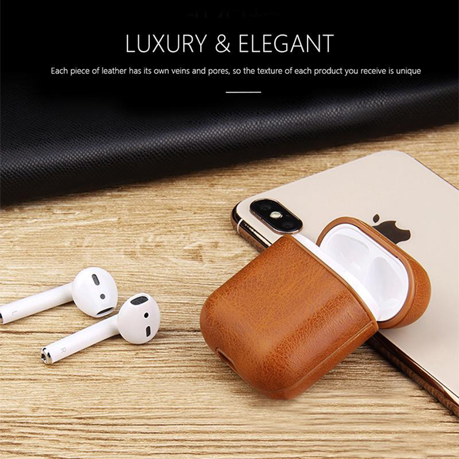 New-Leather-Soft-Skin-Case-For-Apple-Airpods-1-2-1st-2nd-Gen-Earphones-PU-Cover thumbnail 16
