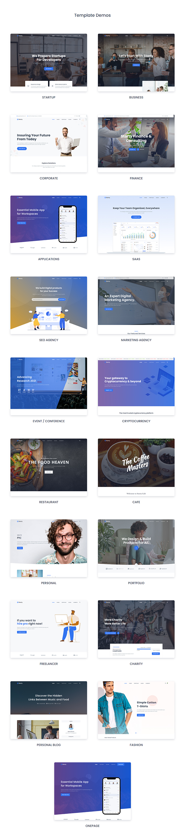Starty - Bootstrap 5 Multipurpose Template - 2