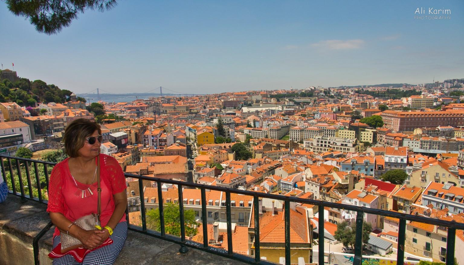 Lisbon Portugal: Another hilltop viewpoint at the Viewpoint Sophia de Mello Breyner Andresen
