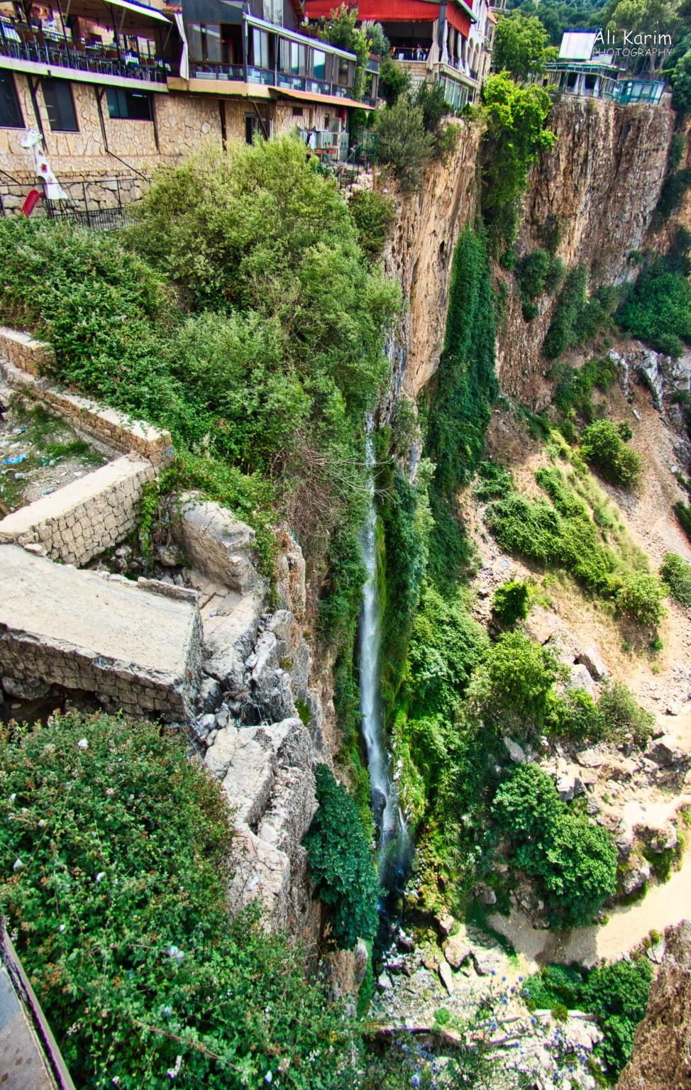 Druze and the Chouf Mountains Jezzine waterfall was at low capacity as it was the dry season; disappointing