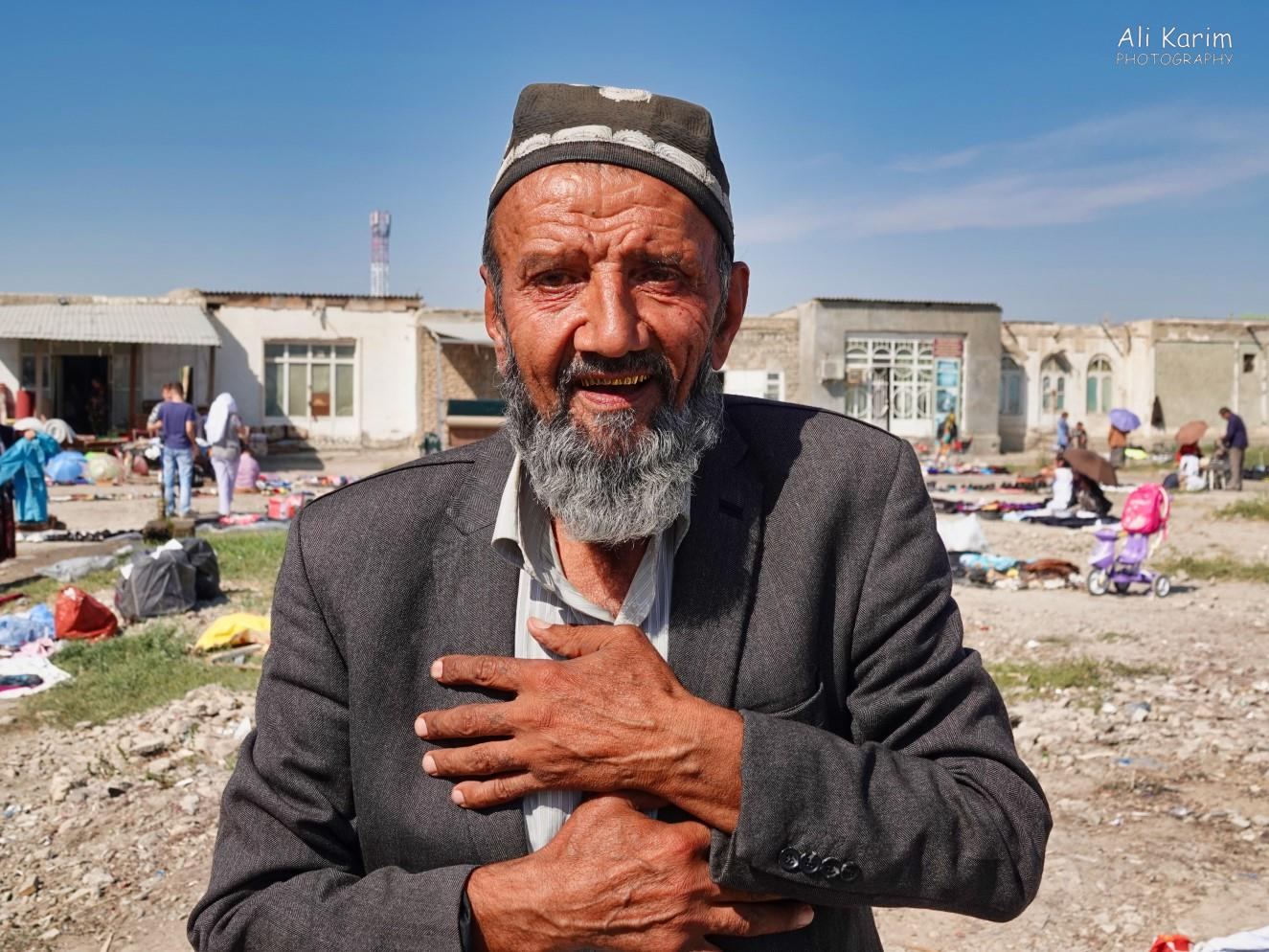 Bukhara, Oct 2019, This local wanted to converse with us, but no English; loved his golden teeth