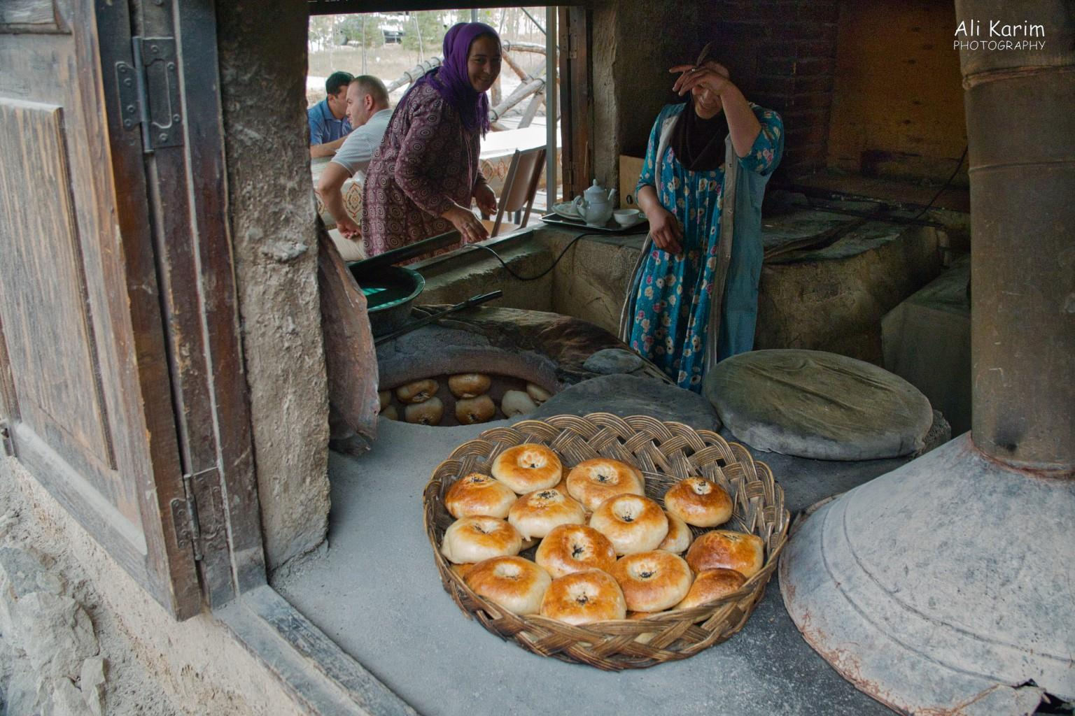Dushanbe, Tajikistan Bread rolls, baked in a tandoor, were everywhere. These ladies had a good laugh at me taking their picture