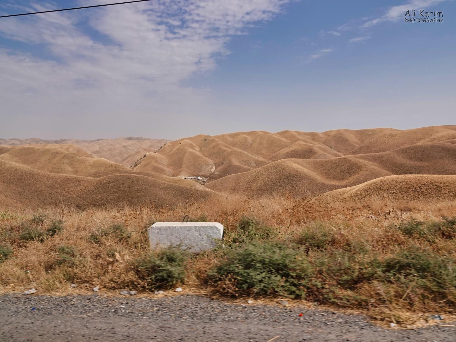Dushanbe, Tajikistan Landscape change into rolling hills