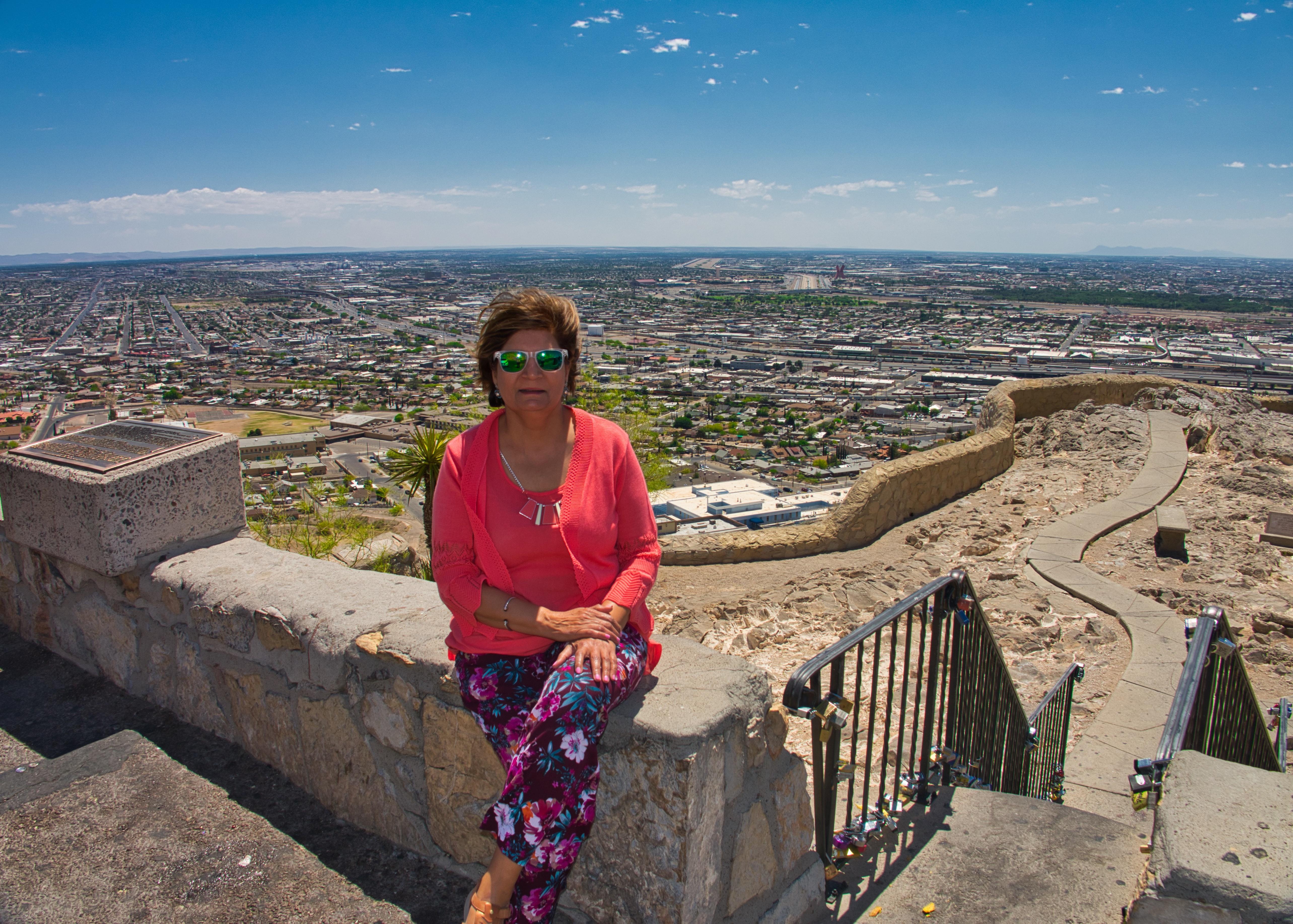View of El Paso and Juarez further away.