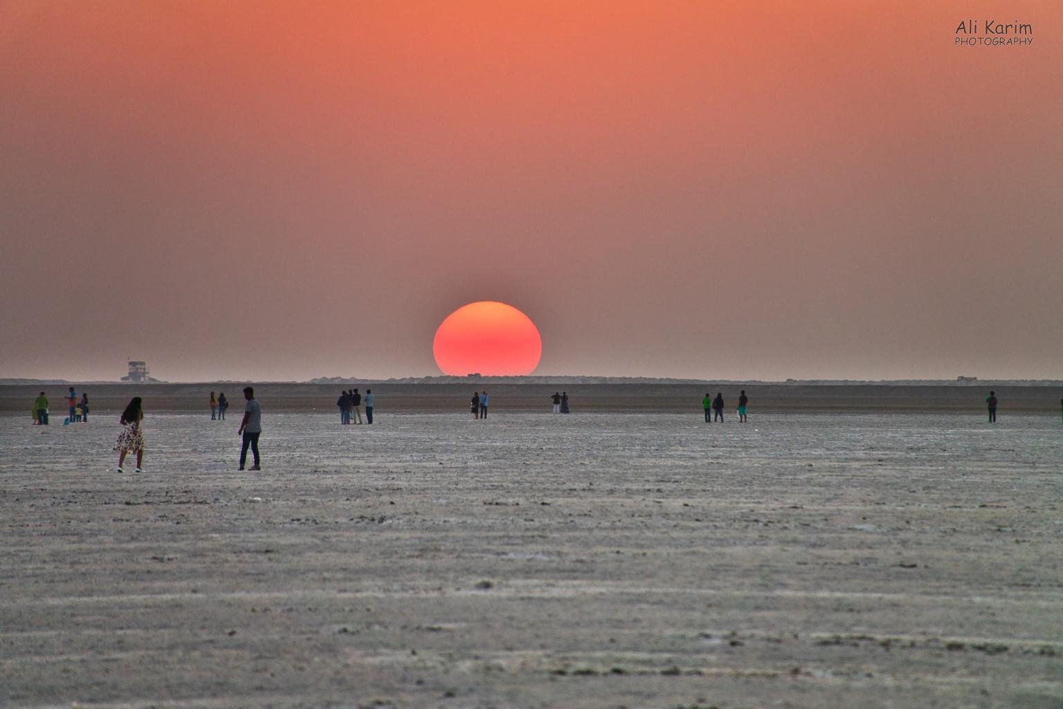 Bhuj, Kutch, Gujarat Beautiful sunset over the Raan
