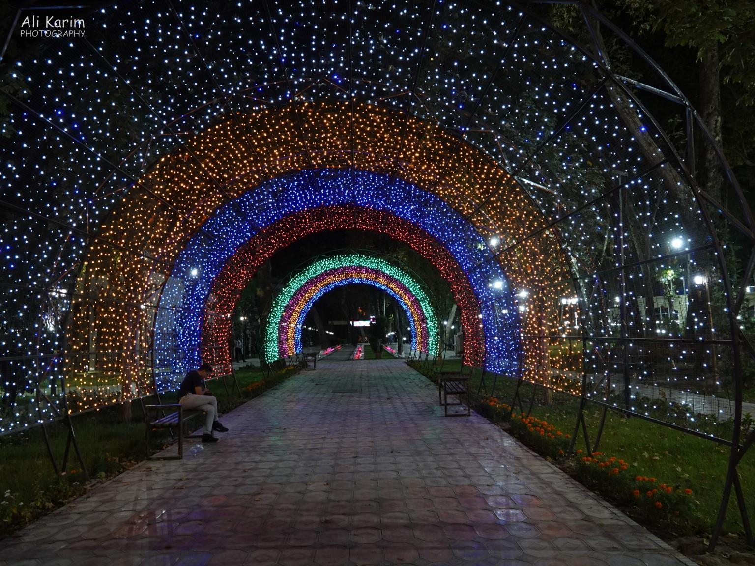 Dushanbe, Tajikistan Interesting walkway in a Park