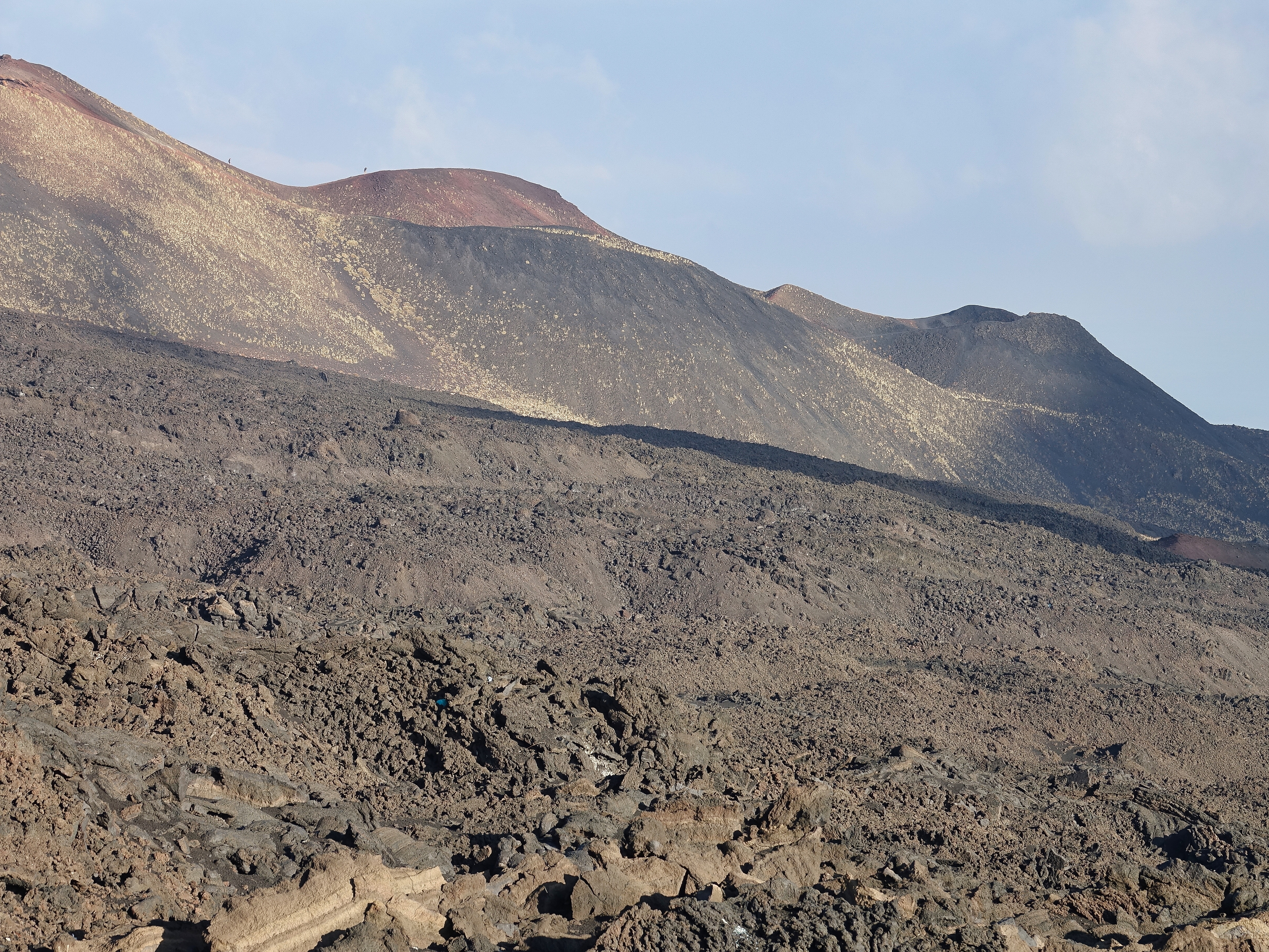 Barren, moonscape of lava rocks