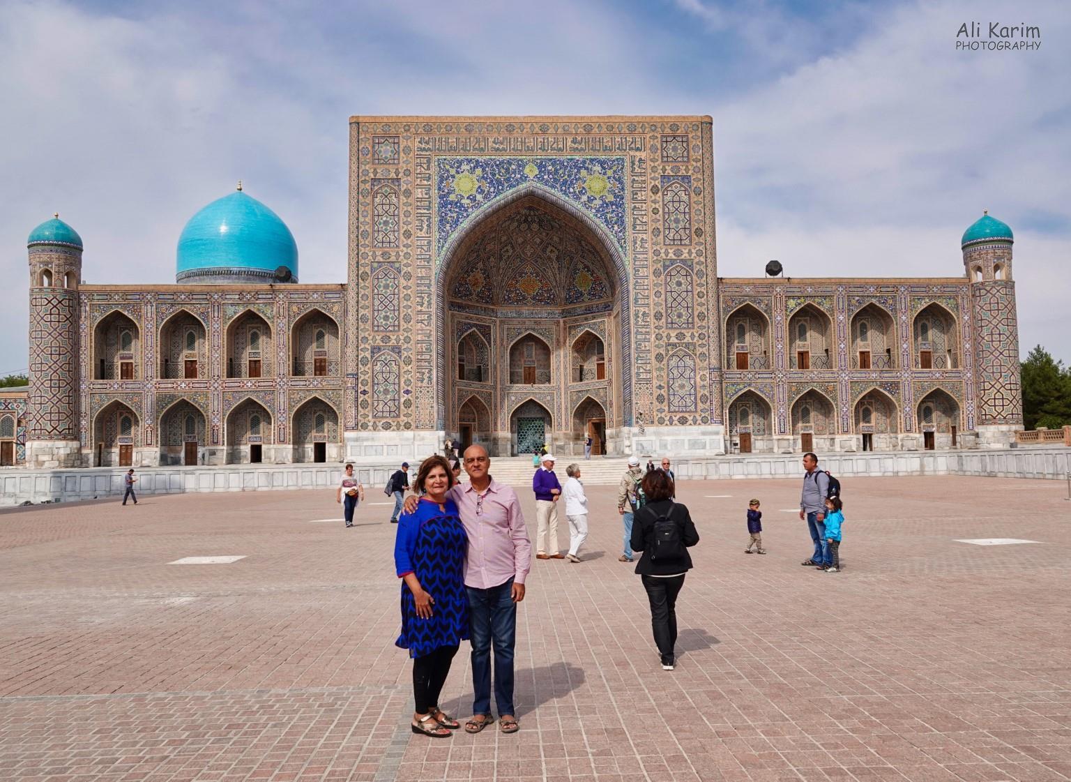 More Samarkand, Obligatory photo in front of the UlughBeg Madrassa