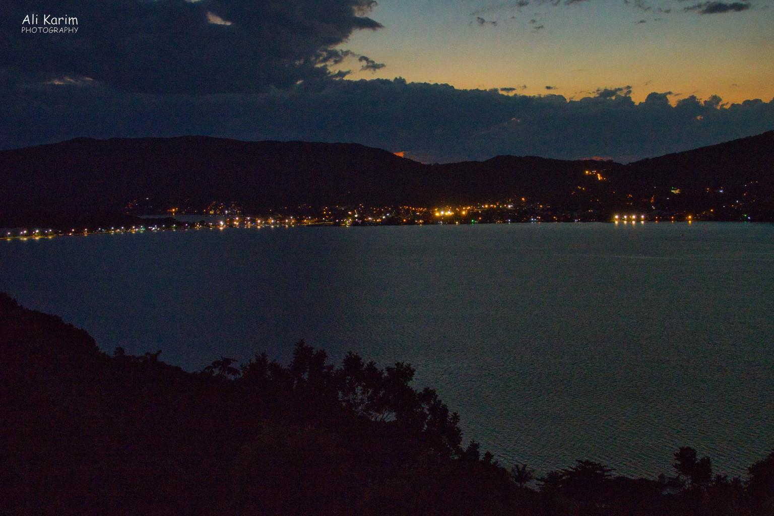 Florianópolis, Brazil Night view of the Lagoa from near our B&B
