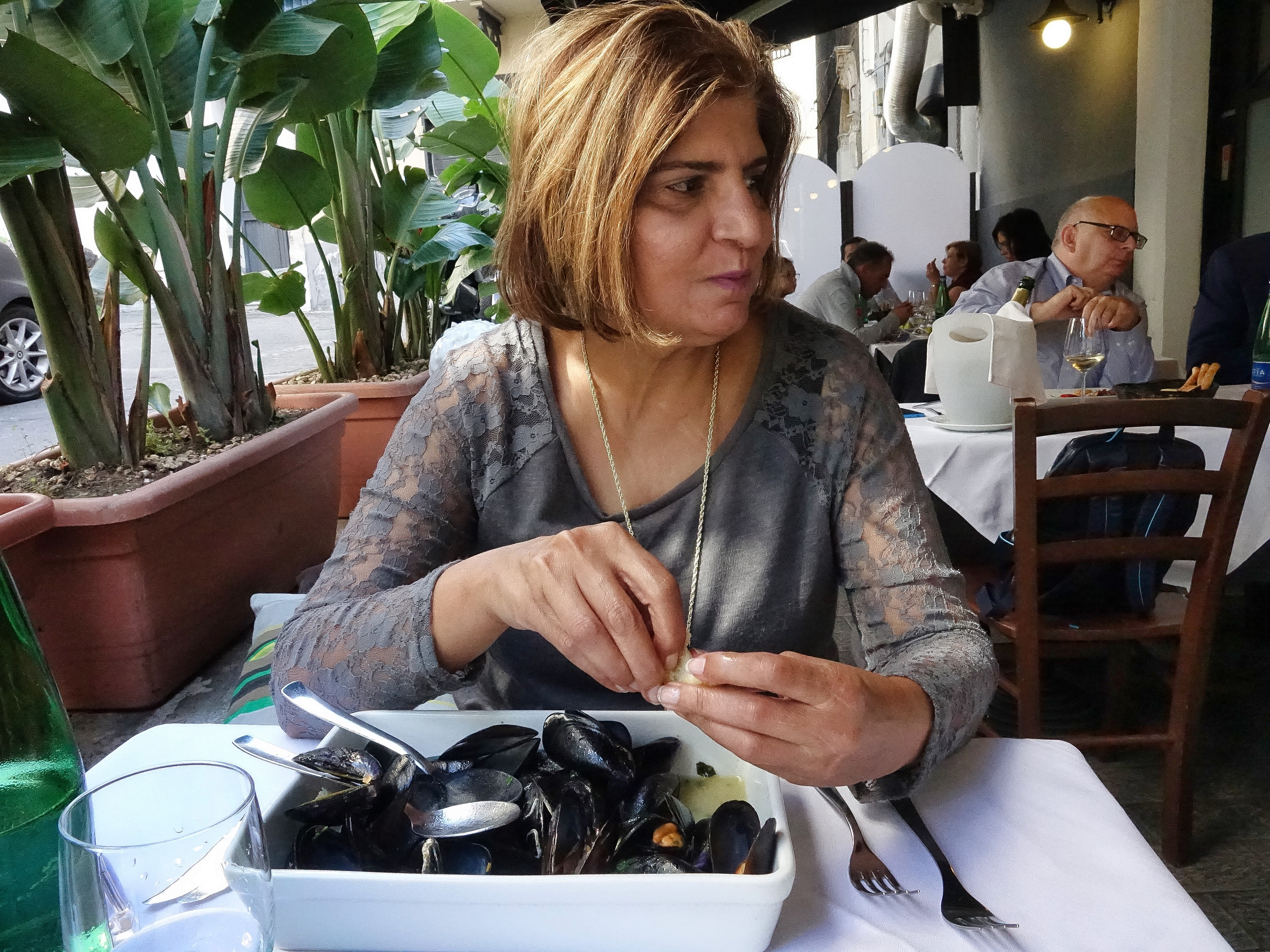 Fresh Mussels & seafood lunch