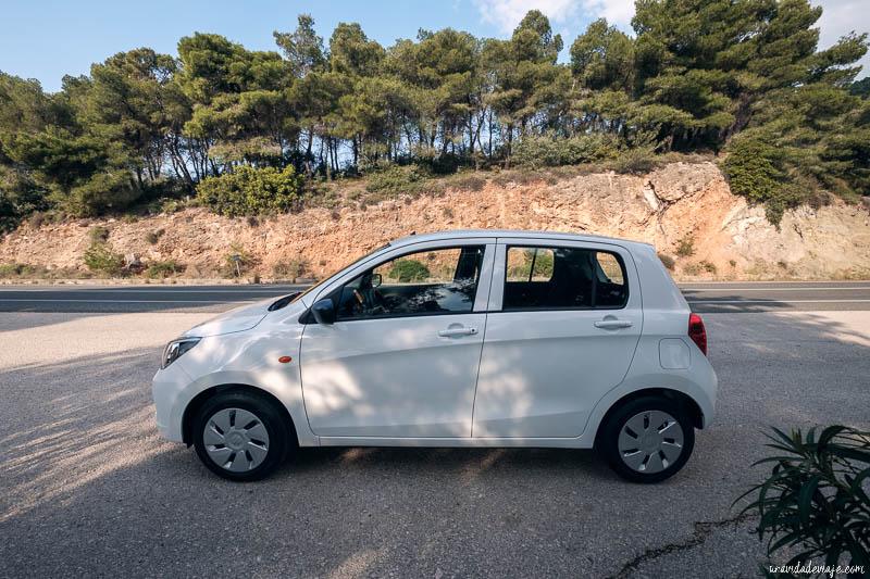 alquilar coche en grecia
