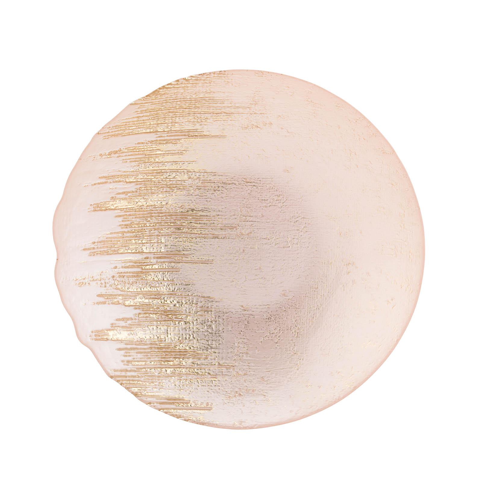 Seraphina Gold Brush Serving Bowl, 13 inch Diameter