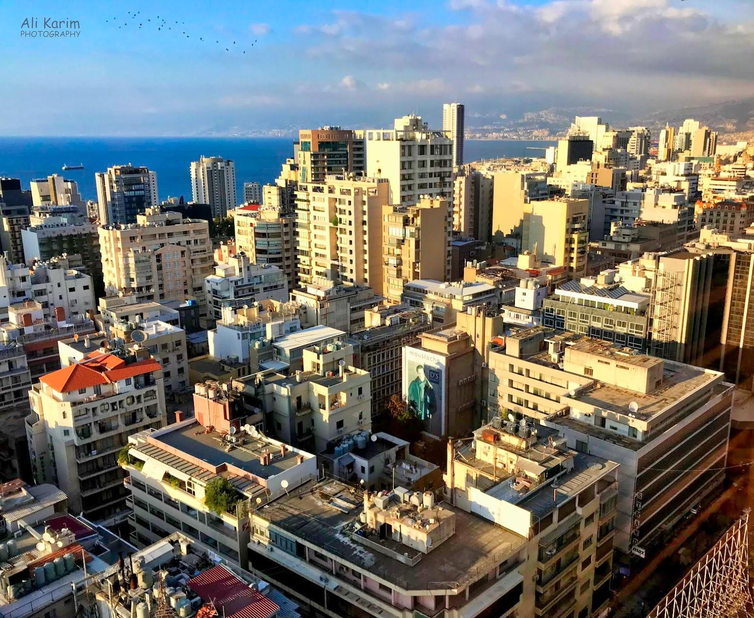 View from our hotel of Hamra, Beirut, and the Mediterranean Sea