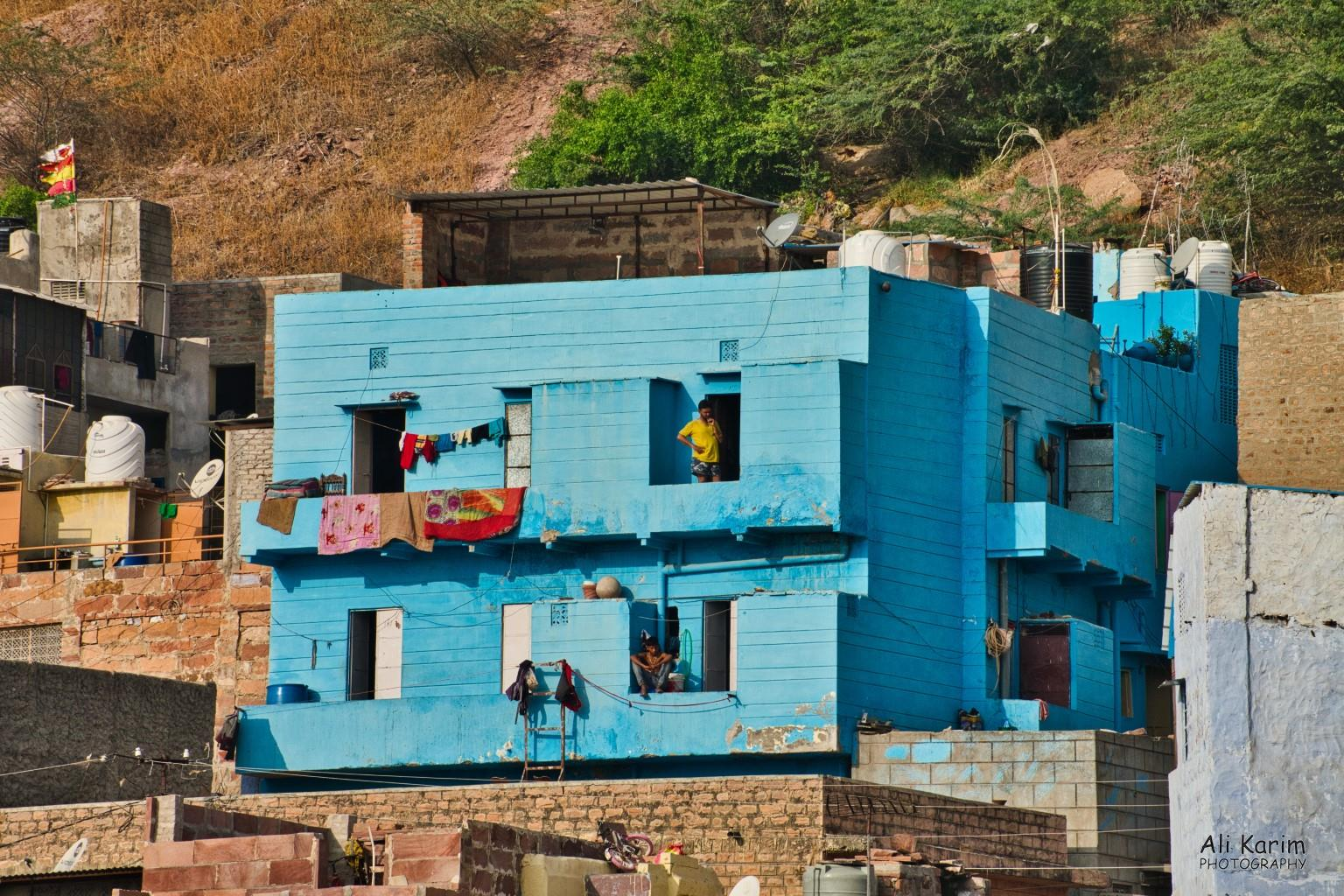 Jodhpur, Rajasthan Blue house near the Fort
