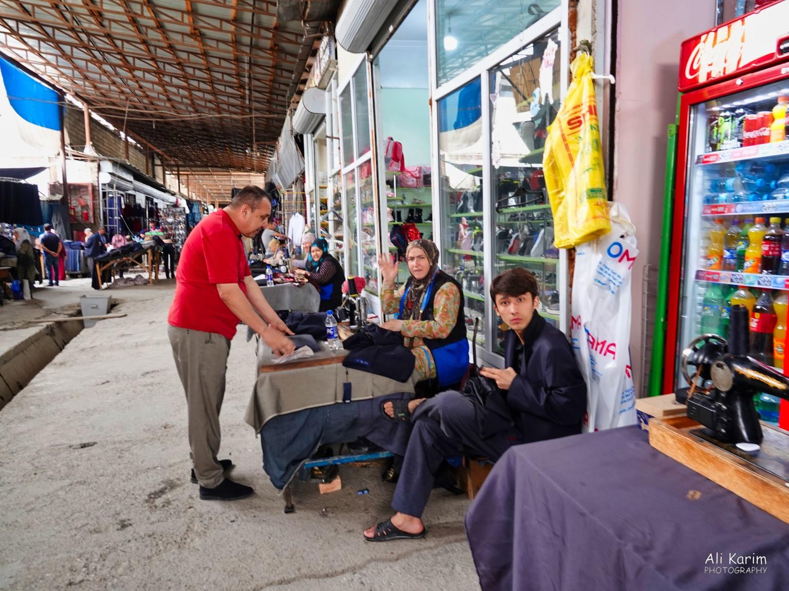 More Dushanbe, Tajikistan Clothing alterations were done on the spot by a line of women on sewing machines