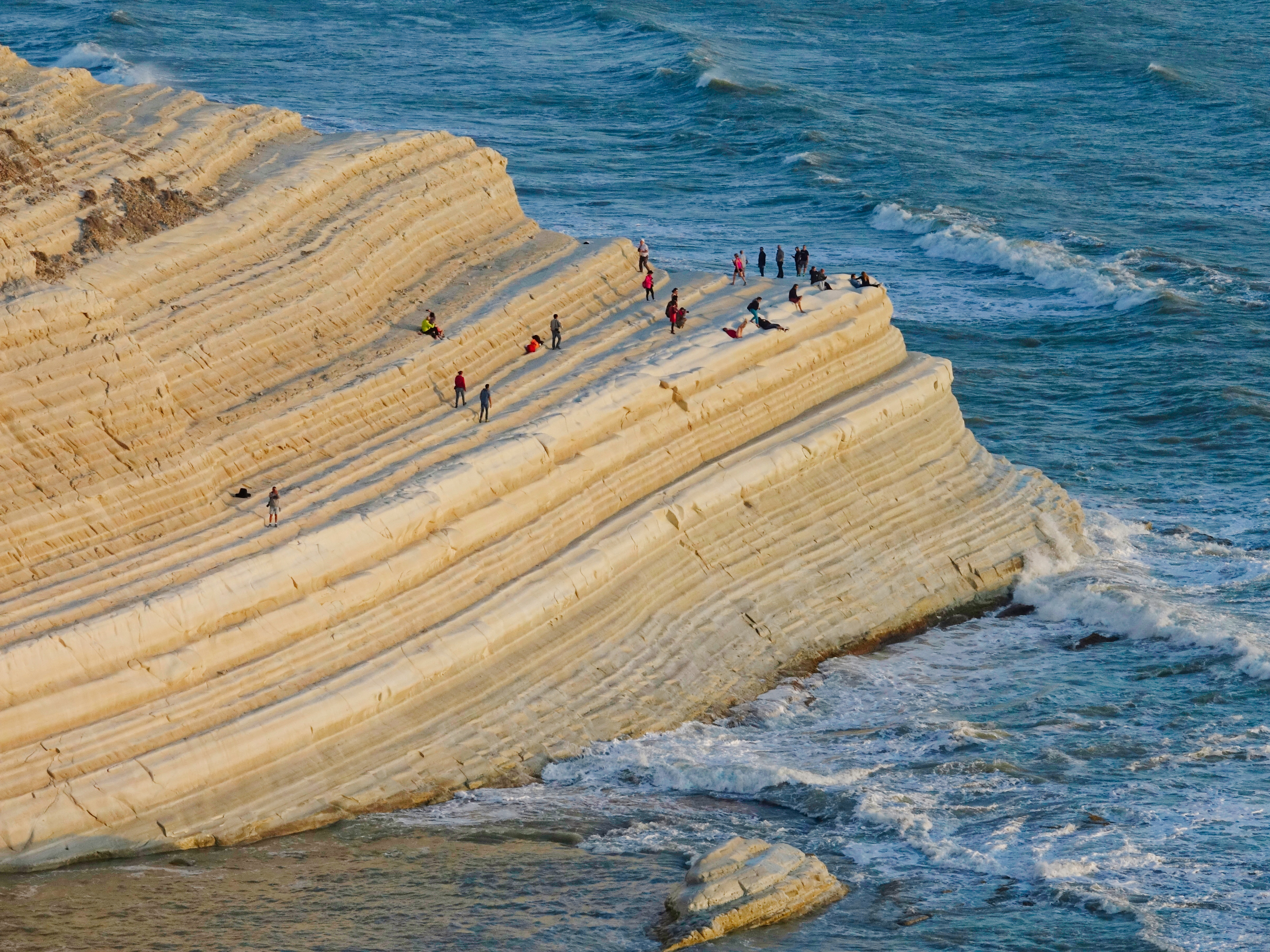 Chilling on Scala Dei Turchi