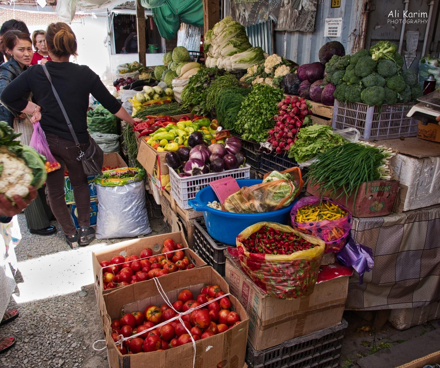 Silk Road 15: Osh, Kyrgyzstan Lots of vegetables