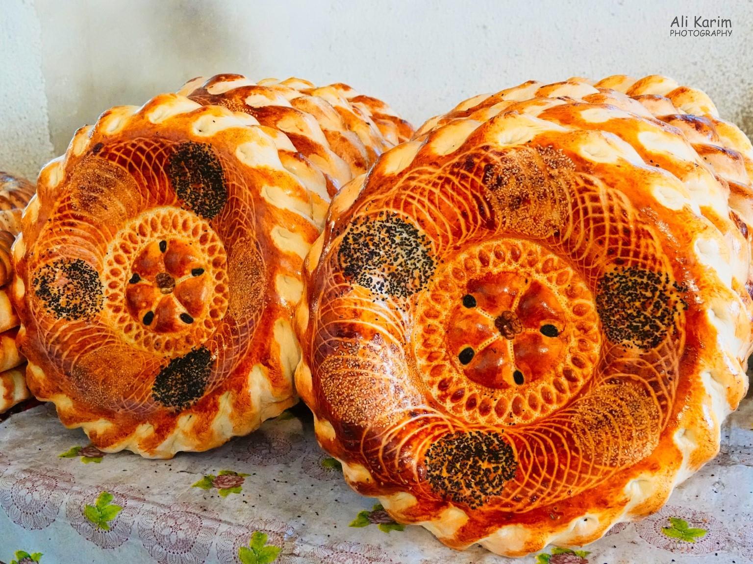 Silk Road 15: Osh, Kyrgyzstan Closer look at the artwork on the Uzbek style Lepyoshka bread