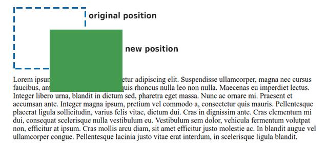 position: relative