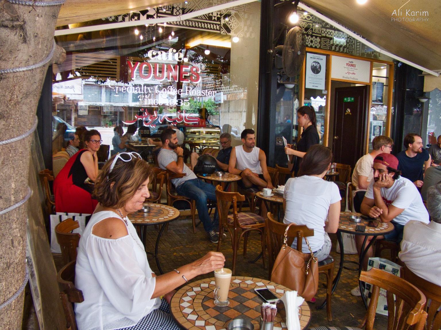 Coffee shop patios like Café Younes are everywhere