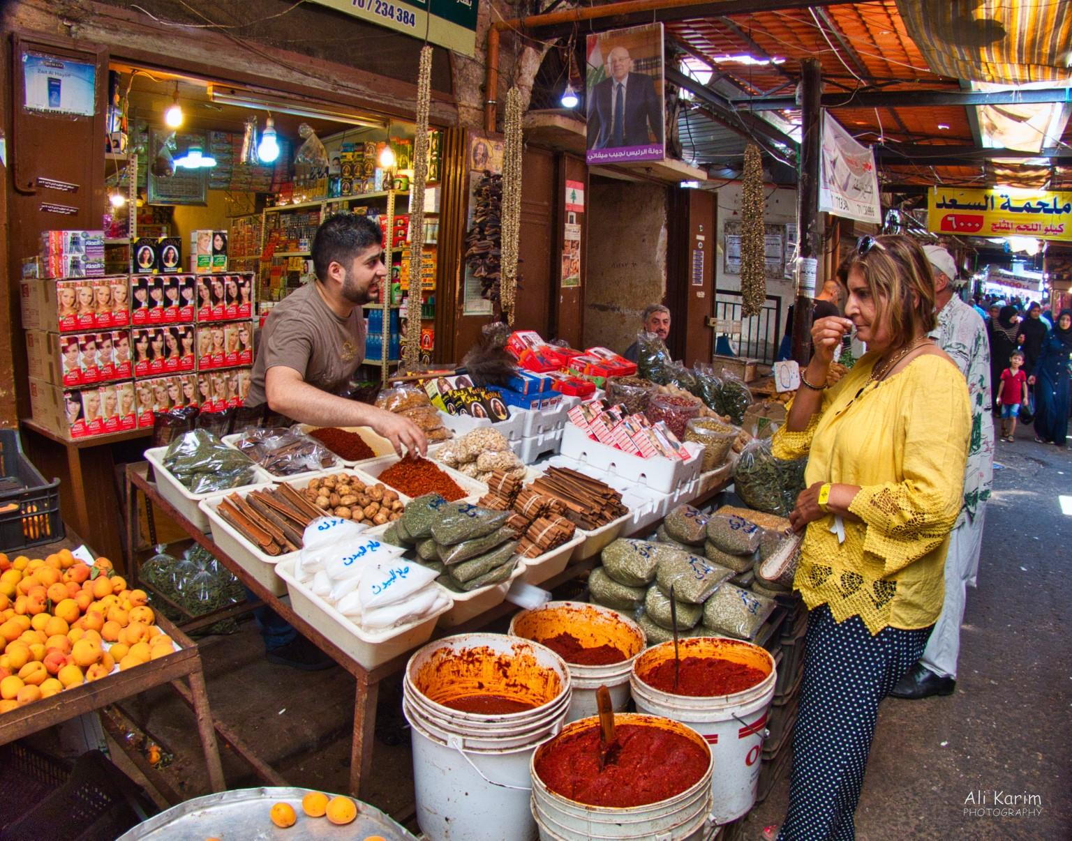 Tripoli Lebanon Checking out the spices; I think they passed the quality test