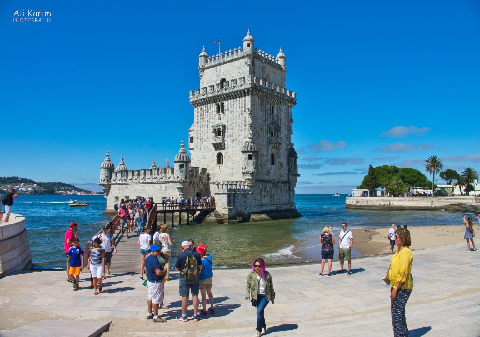 Lisbon Portugal: The Torre de Belem was a fort and early warning network for Portugal. It is inspired by North African designs, and comprises Moorish watchtowers and decorative architecture.