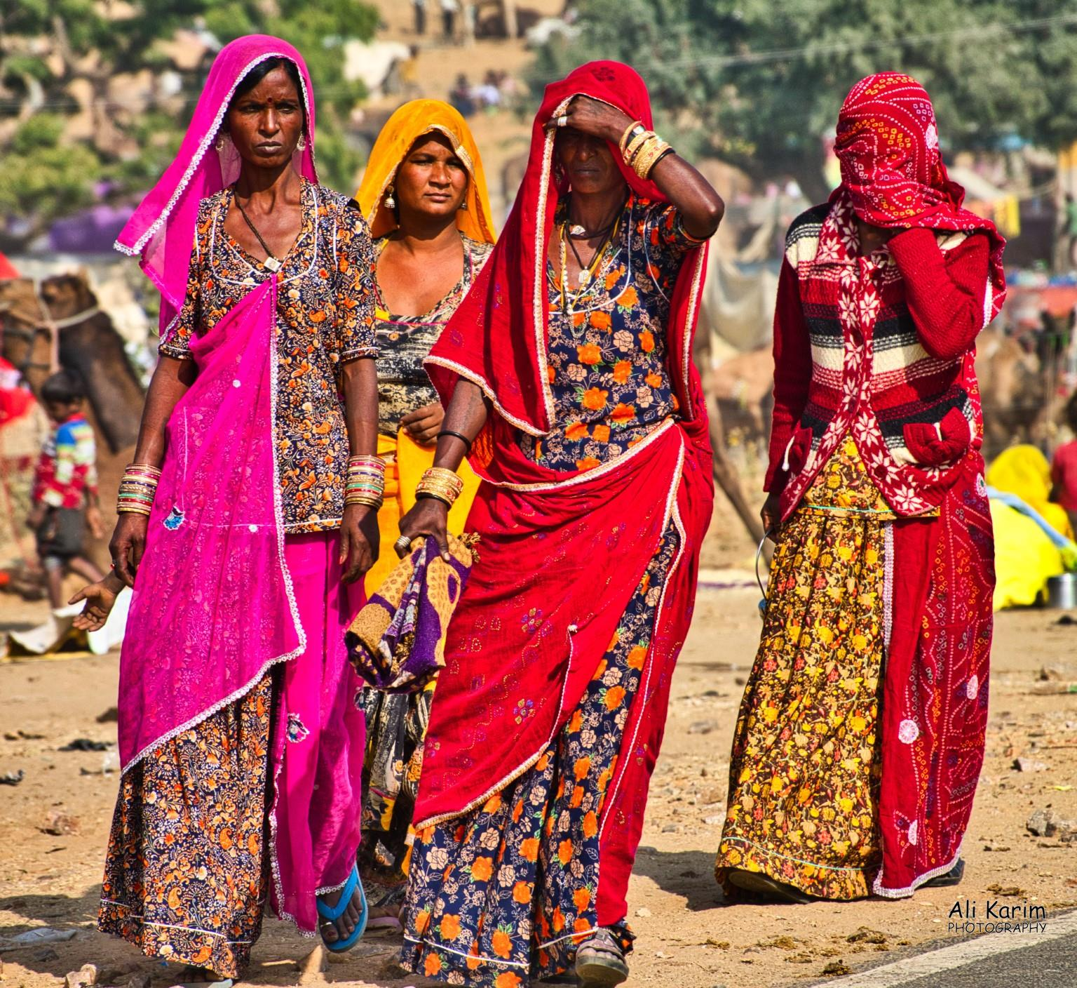 Pushkar, Rajasthan Rajasthani tribal women