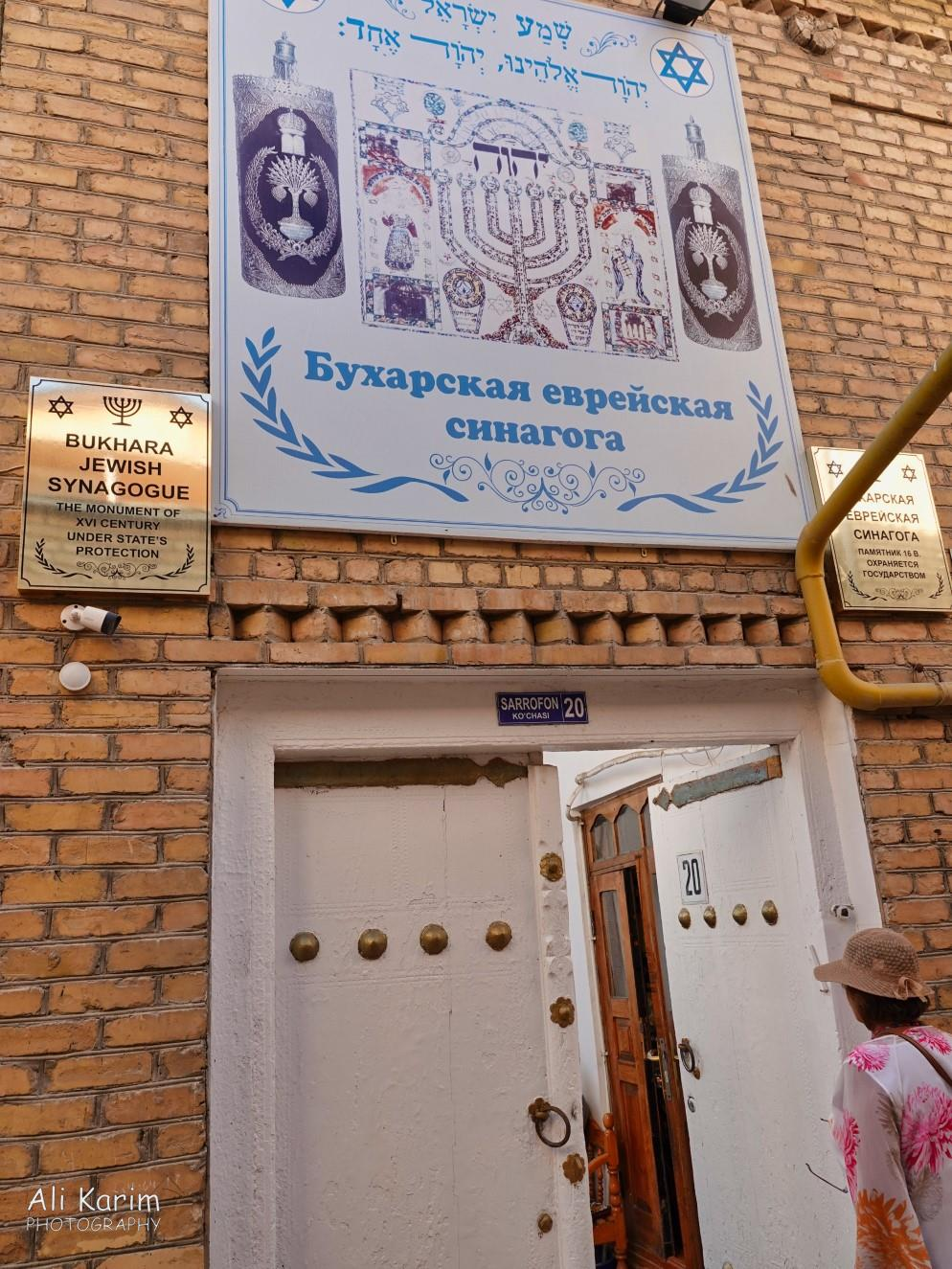 Bukhara, Oct 2019, There was a working Jewish Synagogue that we visited. Jews settled here during the Silk road trading days; currently, there are only a small handful of Jewish families left here