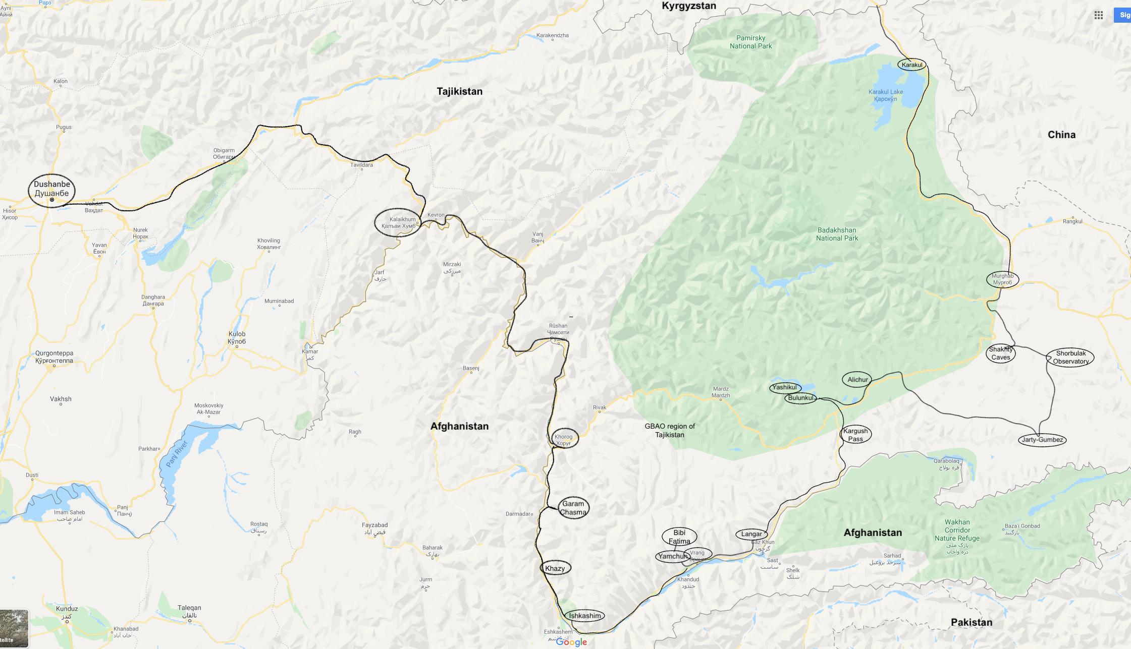 Dushanbe, Tajikistan Tajikistan map till Dushanbe