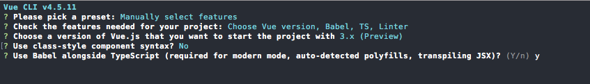 Vue CLI - Babel and TypeScript